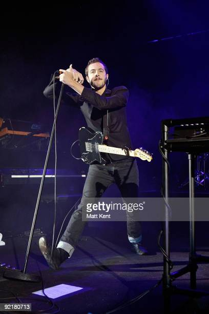 Tom Smith of Editors performs at Hammersmith Apollo London on October 21 2009 in London England