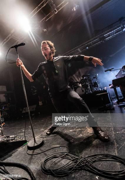 Tom Smith of Editors performs at O2 Academy Birmingham on October 19, 2018 in Birmingham, England.