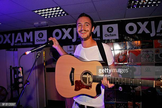 Tom Smith of Editors performs at the Oxjam music festival on October 1 2009 in London England