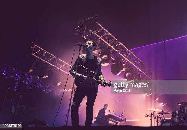 Tom Smith of Editors performs at the SSE Arena Wembley on February 28, 2020 in London, England.