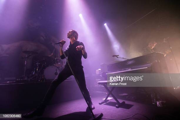 Tom Smith of Editors performs at Vicar Street on October 16, 2018 in Dublin, Ireland.