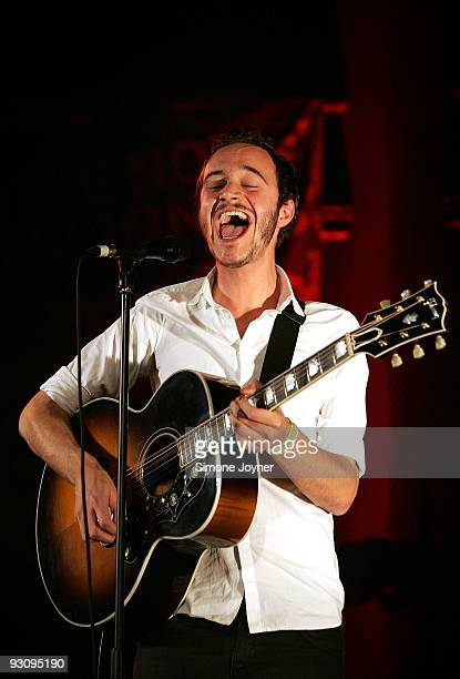 Tom Smith of Editors performs live during the first night of 'Mencap's Little Noise Sessions' at Union Chapel on November 16 2009 in London England
