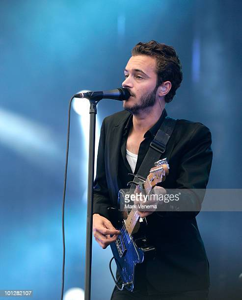 Tom Smith of Editors performs live on day 2 of the Pinkpop Festival on May 29 2010 in Landgraaf Netherlands