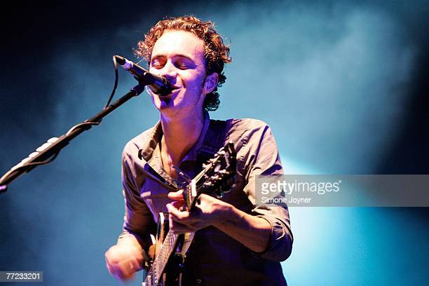 Tom Smith of Editors performs live on stage at the Carling Brixton Academy on October 8 2007 in London England