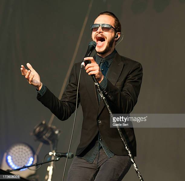 Tom Smith of Editors performs on stage on Day 1 of Open'er Festival 2013 on July 3 2013 in Gdynia Poland