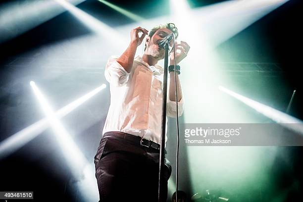 Tom Smith of Editors performs onstage at O2 Academy Newcastle on October 20 2015 in Newcastle upon Tyne England