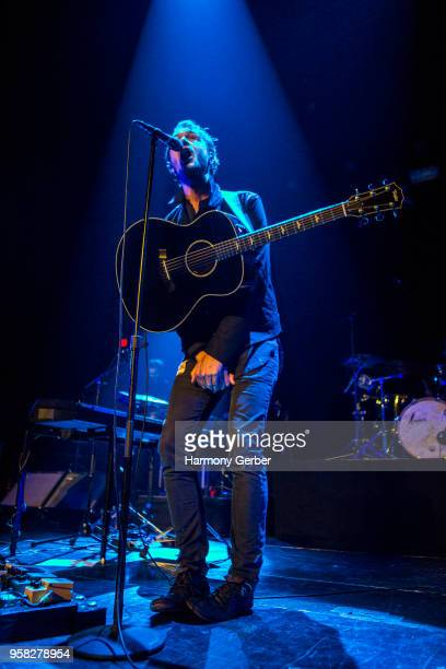 Tom Smith of the band Editors performs at The Belasco Theater on May 13 2018 in Los Angeles California