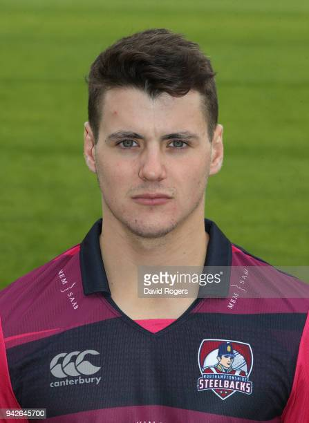 Tom Sole of Northamptonshire County Cricket Club poses for a portrait in their Royal London Oneday Cup strip during the photocall held at The County...