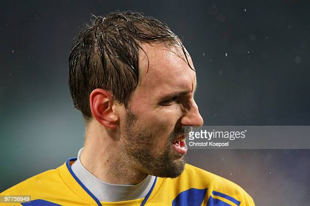 Tom Starke of Duisburg looks dejected after losing 01 the second Bundesliga match between MSV Duisburg and 1860 Muenchen at the MSV Arena on March 15...