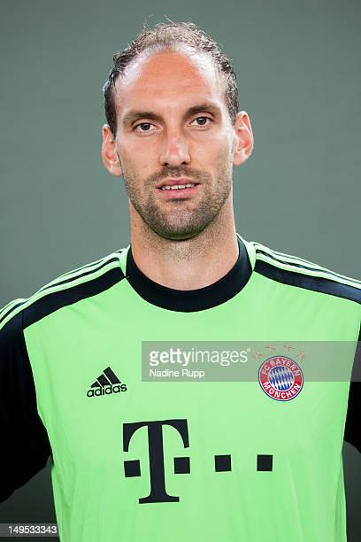 Tom Starke poses during the Bayern Muenchen team presentation at Bayern's training ground Saebener Strasse on July 30 2012 in Munich GermanyÊ