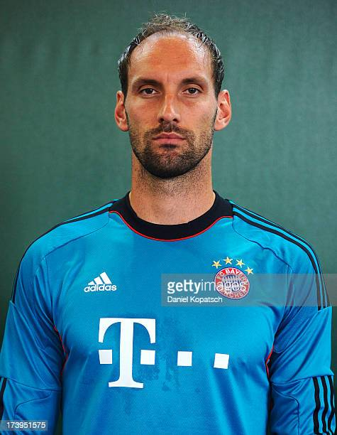Tom Starke poses during the Bayern Muenchen Team Presentation on July 18 2013 in Munich Germany