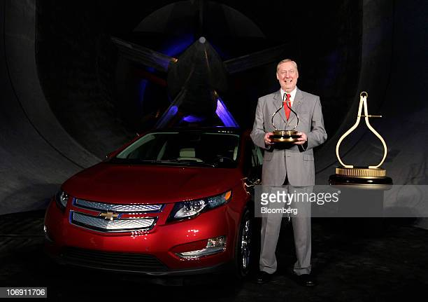 Tom Stephens vice chairman of global product operations for General Motors Co smiles during the honoring the General Motors Chevrolet Volt as the...
