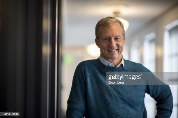 Tom Steyer founder of Farallon Capital Management LLC and president of NextGen Climate Action Committee stands for a photograph after a Bloomberg...