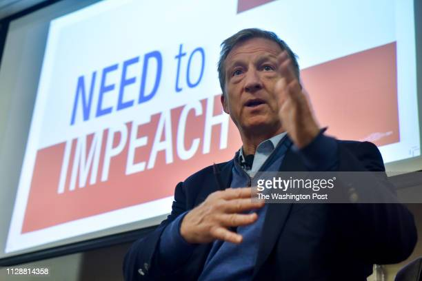 Tom Steyer holds one of his Need to Impeach town hall meetings at Doubletree Hotel on Tuesday March 20 in Largo MD Steyer a billionaire Democrat is...