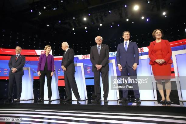 Tom Steyer , Sen. Elizabeth Warren , former Vice President Joe Biden, Sen. Bernie Sanders , former South Bend, Indiana Mayor Pete Buttigieg, and Sen....