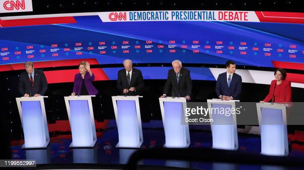 Tom Steyer , Sen. Elizabeth Warren , former Vice President Joe Biden, Sen. Bernie Sanders former South Bend, Indiana Mayor Pete Buttigieg and Sen....