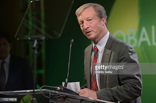 Tom Steyer speaks at Global Green USA's Millennium Awards at Fairmont Miramar Hotel on June 8 2013 in Santa Monica California benefiting the places...