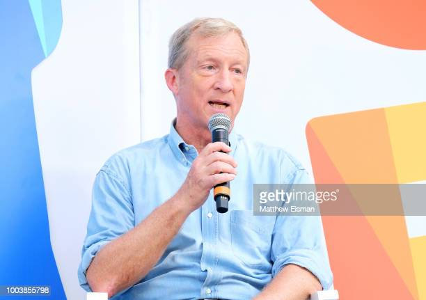 Tom Steyer speaks onstage during OZY Fest 2018 at Rumsey Playfield Central Park on July 22 2018 in New York City