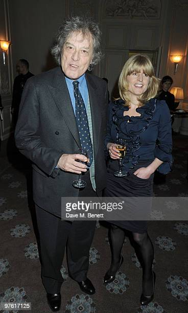 Tom Stoppard and Rachel Johnson attend the Nancy Mitford 'Wigs on the Green' reissue party held by Catherine Ostler and the Dowager Duchess of...