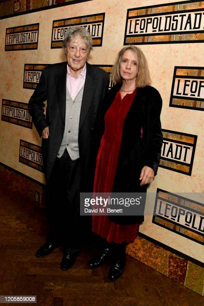 Tom Stoppard and Sabrina Guinness attend the After Party of the press night performance of Tom Stoppard's Leopoldstadt at the Century Club on...