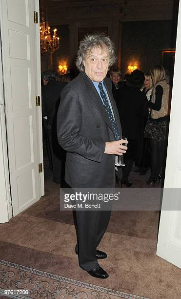 Tom Stoppard attends the Nancy Mitford 'Wigs on the Green' reissue party held by Catherine Ostler and the Dowager Duchess of Devonshire, in...