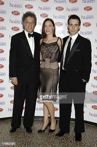 Tom Stoppard Linzi Stoppard and Will Stoppard during The Blush Ball in Aid of Breast Cancer Haven Sponsored by Henri Zimand Inside at Natural History...