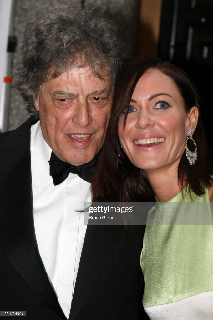 Tom Stoppard, nominee Best Play for 'The Coast of Utopia,' and daughter-in-law Linzi Stoppard