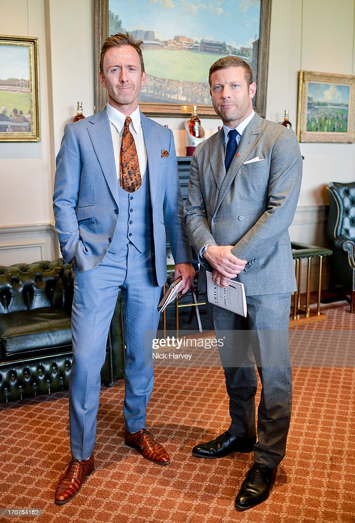 Tom Stubbs and Dermot O'Leary attend the Savile Row & St James's Presentation during the London Collections: MEN SS14 at Lord's Cricket Ground on June 17, 2013 in London, England.