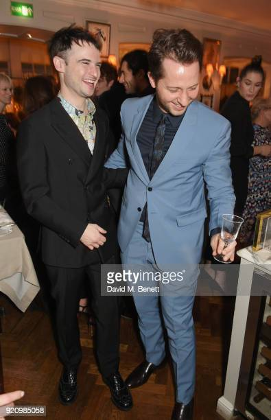 Tom Sturridge and Derek Blasberg attend the LOVE x Miu Miu Women's Tales dinner hosted by Katie Grand and Elle Fanning at Loulou's on February 19...