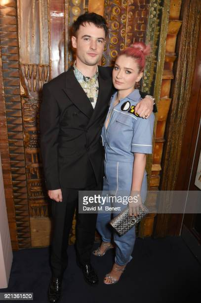 Tom Sturridge and Eve Hewson attend the Miu Miu Women's Tales Screening at The Curzon Mayfair on February 19 2018 in London England