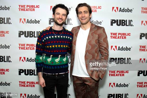 Tom Sturridge and Jake Gyllenhaal attend 'Sea Wall / A Life' opening night at The Public Theater on February 14 2019 in New York City