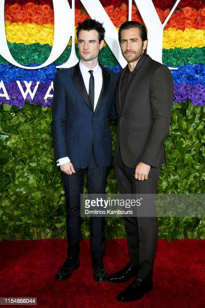 Tom Sturridge and Jake Gyllenhaal attend the 73rd Annual Tony Awards at Radio City Music Hall on June 09, 2019 in New York City.