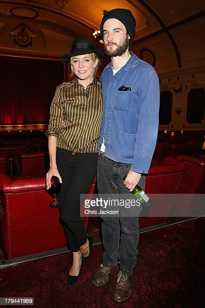 Tom Sturridge and Sienna Miller attend the 'About Time' special screening at The Electric Cinema on September 3 2013 in London England