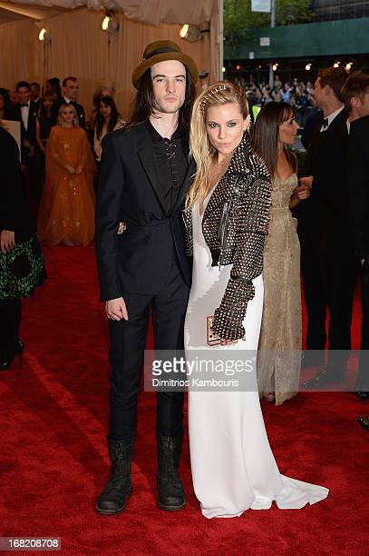 Tom Sturridge and Sienna Miller attend the Costume Institute Gala for the 'PUNK Chaos to Couture' exhibition at the Metropolitan Museum of Art on May...