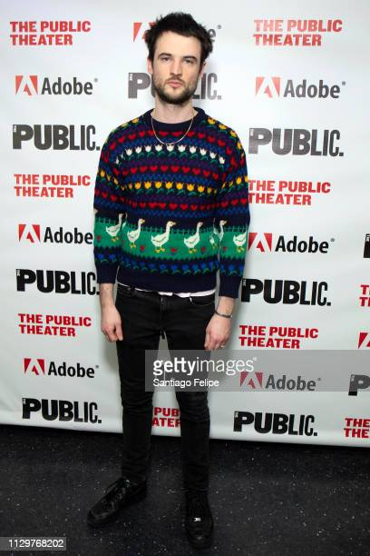 Tom Sturridge attends 'Sea Wall / A Life' opening night at The Public Theater on February 14 2019 in New York City