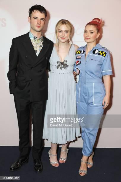 Tom Sturridge Dakota Fanning and Eve Hewson attend the Miu Miu Women's Tales Screening at The Curzon Mayfair on February 19 2018 in London England