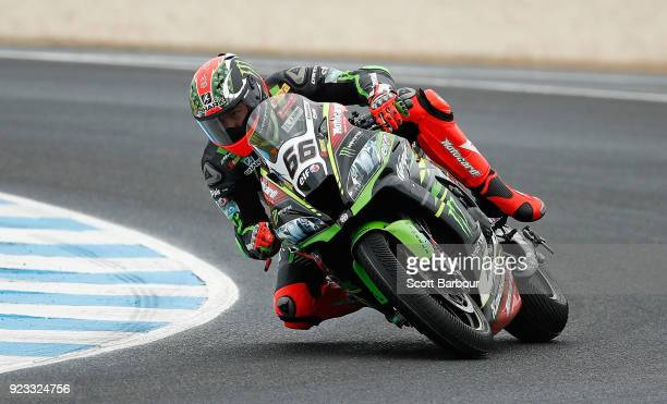 Tom Sykes of Great Britain and Kawasaki Racing Team WorldSBK rides in the FIM Superbike World Championship Free Practice session ahead of the 2018...
