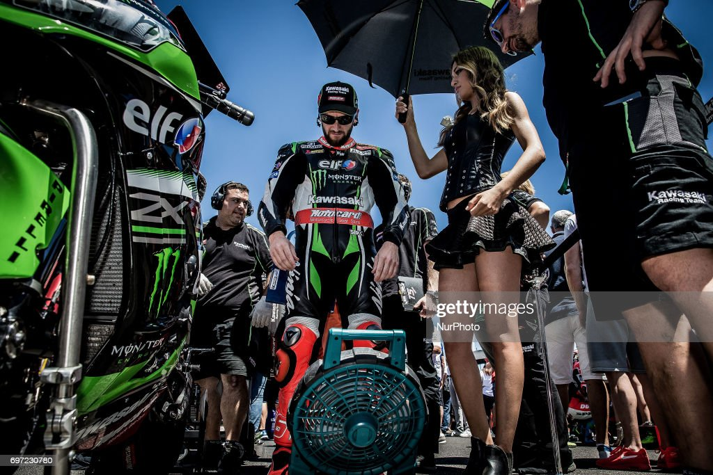 "Tom Sykes of Kawasaki Racing Team before the race 2 of the Motul FIM Superbike Championship, Riviera di Rimini Round, at Misano World Circuit ""Marco Simoncelli"", on June 18, 2017 in Misano Adriatico, Italy"