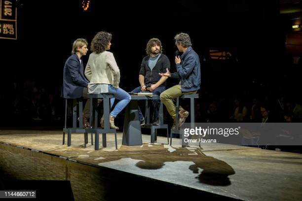 Tom Szaky Founder of TerraCycle listens to speakers during a plenary session during the Sustainable Brands Paris conference in the Carrousel du...