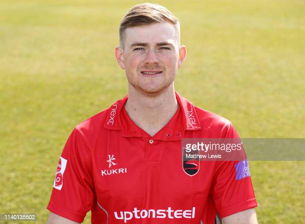 Tom Taylor of Leicestershire CCC pictured during the Leicestershire CCC Photocall at Grace Road on April 03 2019 in Leicester England