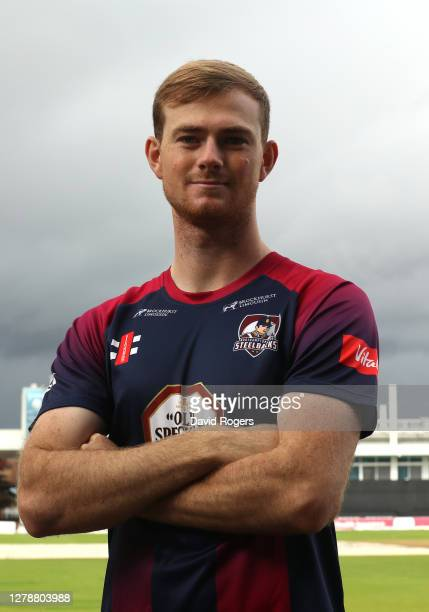 Tom Taylor of Northamptonshire County Cricket poses at The County Ground on October 06 2020 in Northampton England