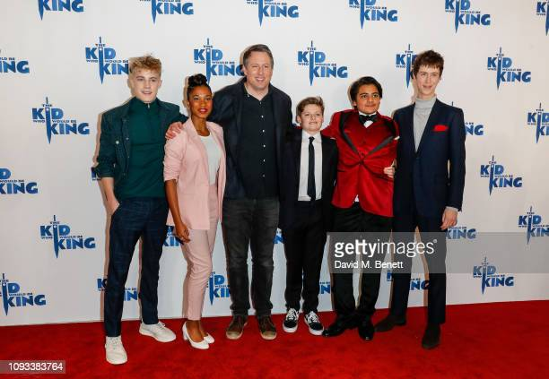 """Tom Taylor, Rhianna Dorris, Joe Cornish; Louis Ahbourne Serkis, Dean Chaumoo and Angus Imrie attend a gala screening of """"The Kid Who Would Be King""""..."""