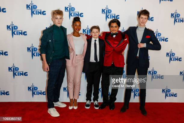 """Tom Taylor, Rhianna Dorris, Louis Ahbourne Serkis, Dean Chaumoo and Angus Imrie attend a gala screening of """"The Kid Who Would Be King"""" held at Odeon..."""