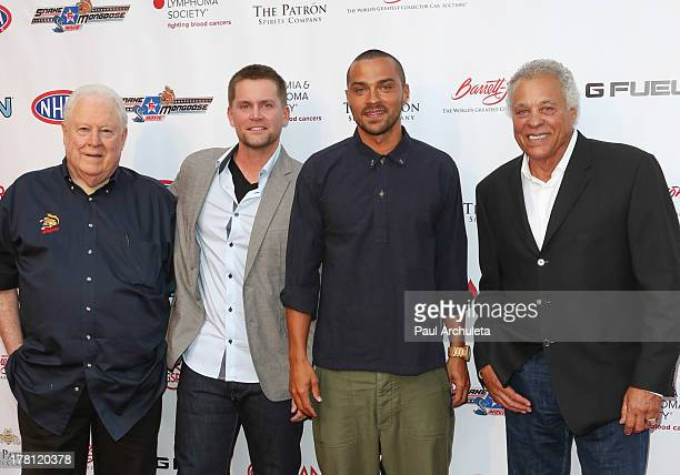 Tom 'The Mongoo$e' McEwen Richard Blake Jesse Williams and Don 'The Snake' Prudhomme attend the premiere of 'Snake Mongoo$e' at the Egyptian Theatre...