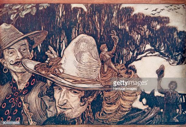 Tom Thumb 1909 When Tom had said goodbye to his Father they went away with him Tom Thumb from The Fairy Tales of the Brothers Grimm pub 1909