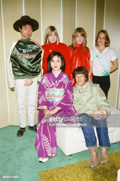 Tom Tom Club interviewed by Music Life magazine in a hotel room April 1982 Tokyo Japan Tina Weymouth Lani Weymouth Laura Weymouth Chris Frantz Toshio...