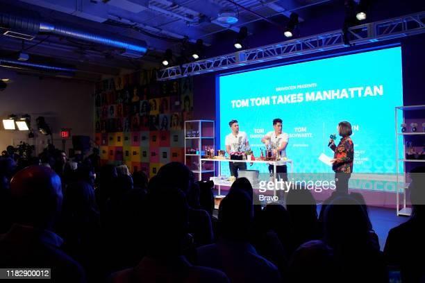 BRAVOCON Tom Tom Takes Manhattan Panel at Union West in New York City on Saturday November 16 2019 Pictured Tom Schwartz Tom Sandoval Daryn Carp
