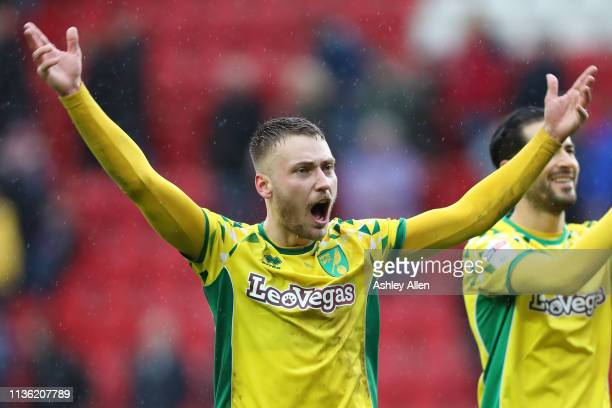 Tom Trybull celebrates at The New York Stadium on March 16, 2019 in Rotherham, England.