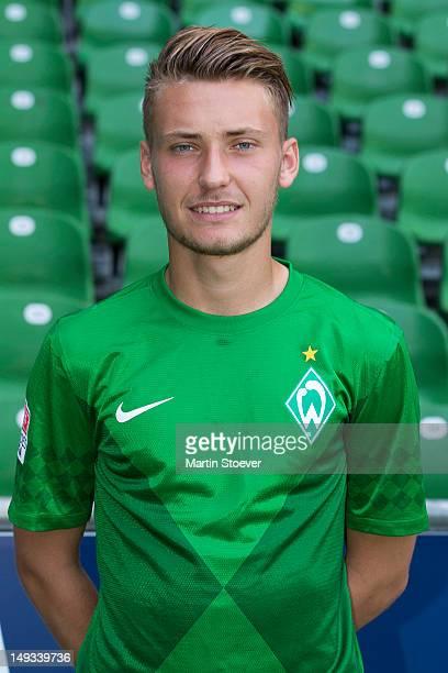 Tom Trybull during the Werder Bremen team presentation at Weserstadion on July 27, 2012 in Bremen, Germany.