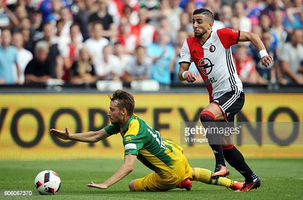 22a78c7af92 Tom Trybull of ADO Den Haag Bilal Basacikoglu of Feyenoord during the Dutch  Eredivisie match between